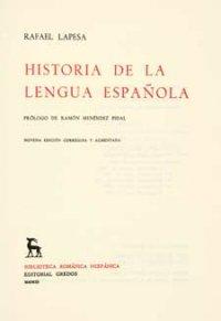 Historia de la lengua espaсola