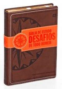 Biblia de Estudo Desafios de Todo Homem - Marron - Luxo - Stephen Arteburn